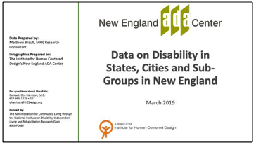 Data on Disability in States, Cities, and Sub-Groups
