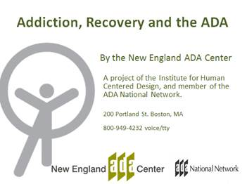 Addiction, Recovery and the ADA PDF download